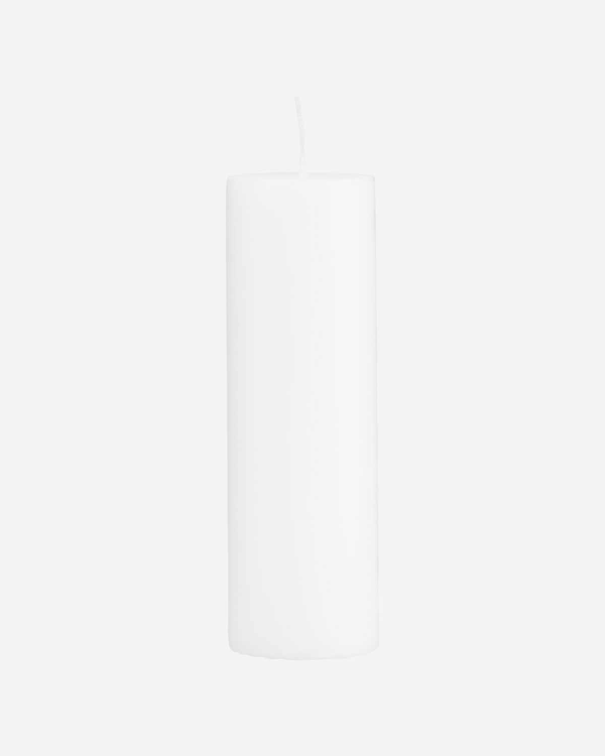 Pillar candle, White, Burning time: 81 Hours