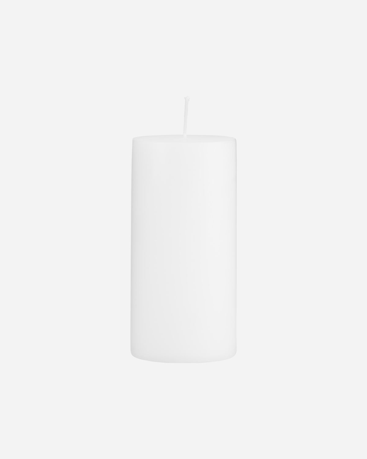 Pillar candle, White, Burning time: 82 Hours
