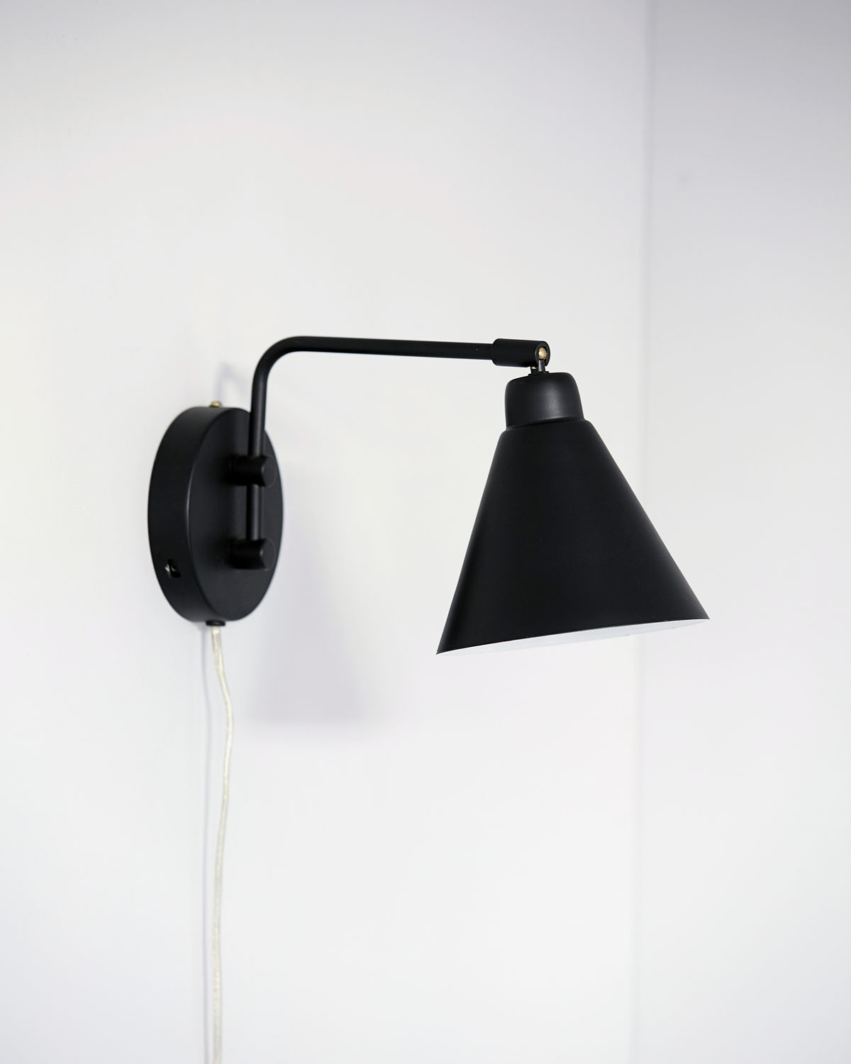 Wall lamp, Game, Black, E14, Max 25 W, 2.20 m cable