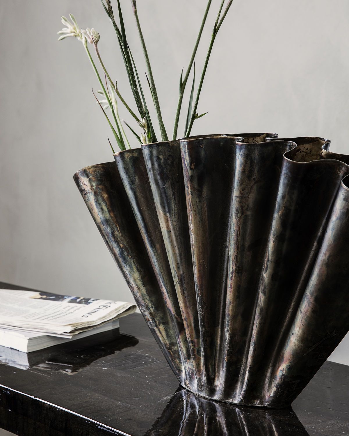 Vase, Flood, Antique brown, Finish/Colour may vary