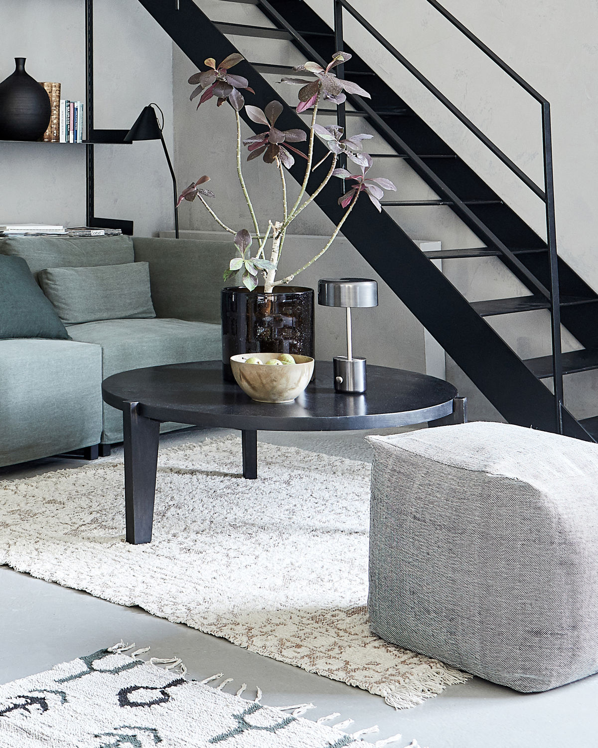Coffee table, Bali, Black stain