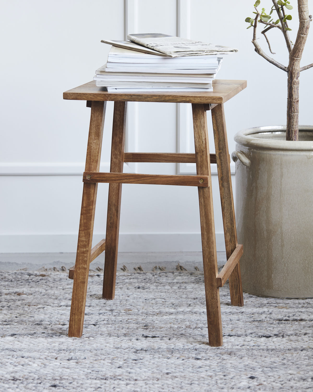 Side table, Laddi, Antique brown