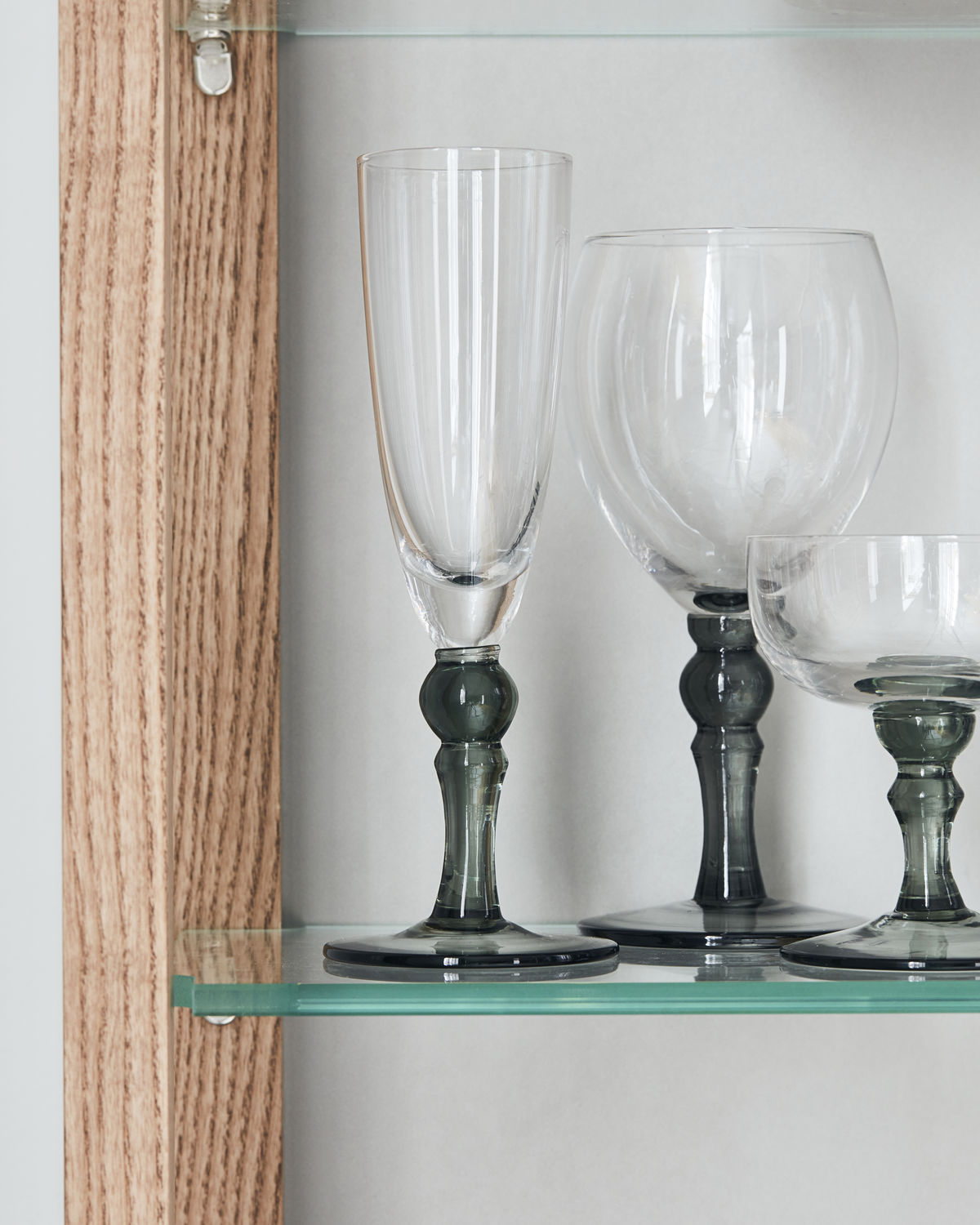 Champagne glass, Meyer, Clear/Grey, Size/Colour may vary, 250 ml