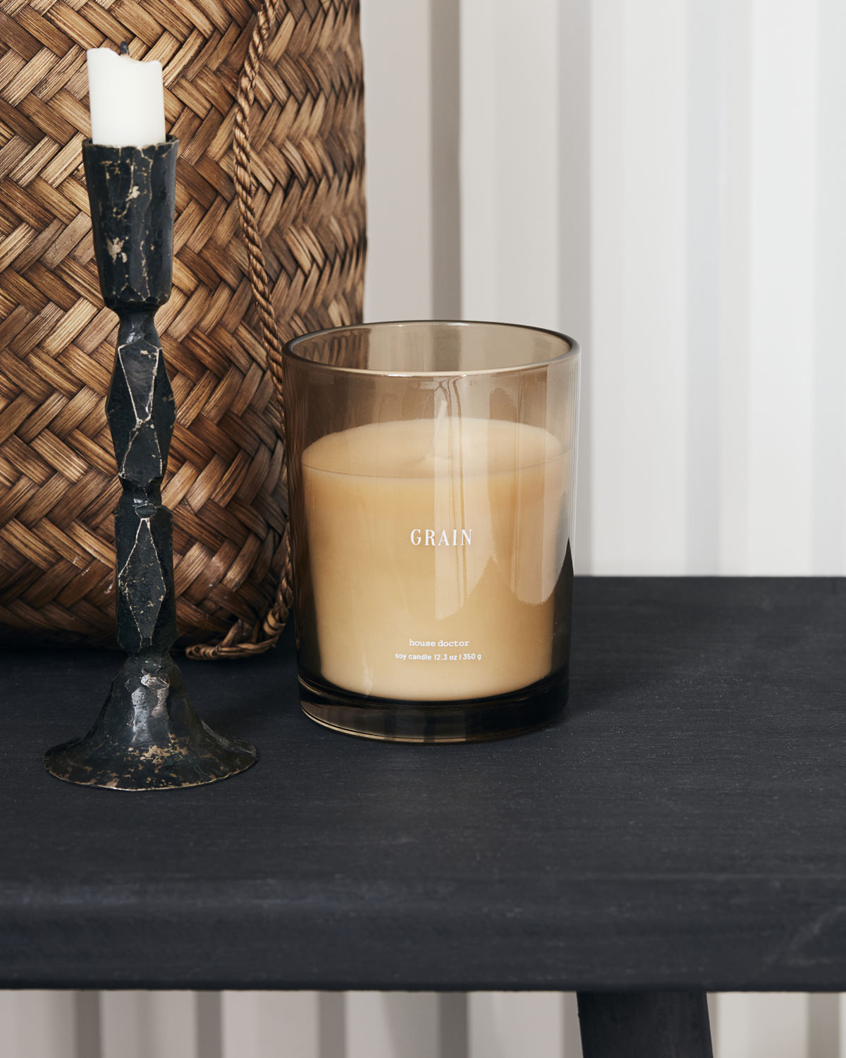 Scented candle, Grain, Brown, Burning time: 52 hours