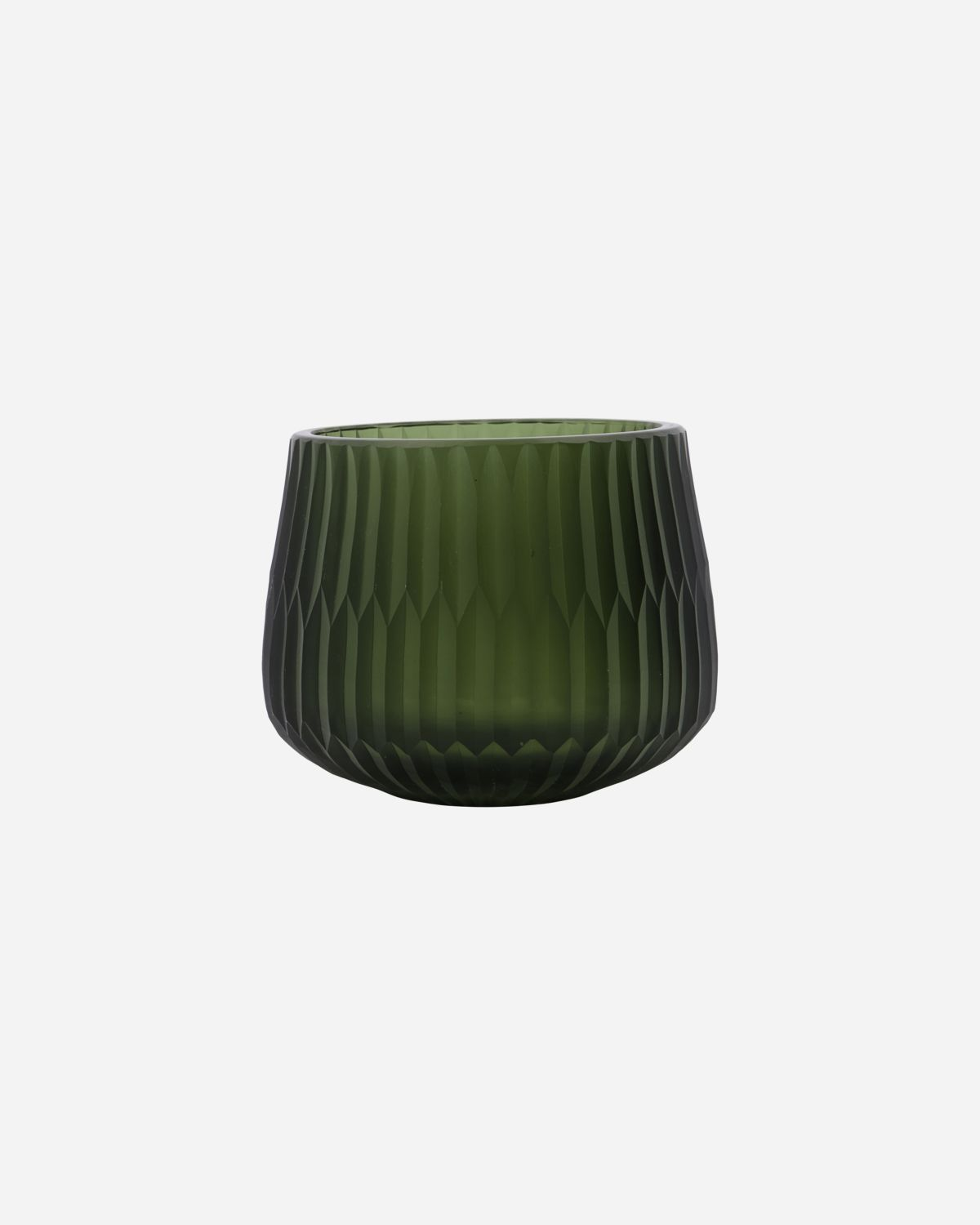 Tealight holder, Crown, Green, Handmade, Finish/Colour/Size may vary